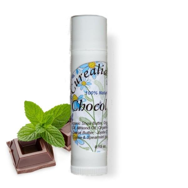 chapped lips, lips moisturizer, natural lip balm, beeswax lip balm, chocolate lips, curealia